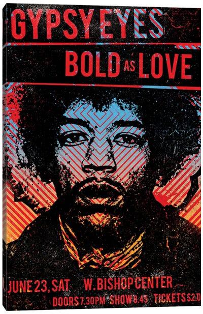 Jimi Hendrix Experience Tour Poster Canvas Art Print