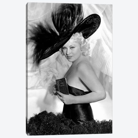 Mae West As Peaches O'Day In Every Day's A Holiday Canvas Print #RAD72} by Radio Days Canvas Print
