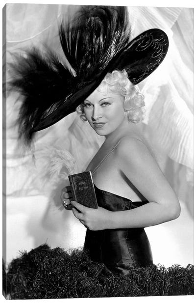 Mae West As Peaches O'Day In Every Day's A Holiday Canvas Art Print