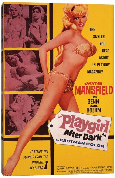 Playgirl After Dark (Too Hot To Handle) Film Poster Canvas Art Print
