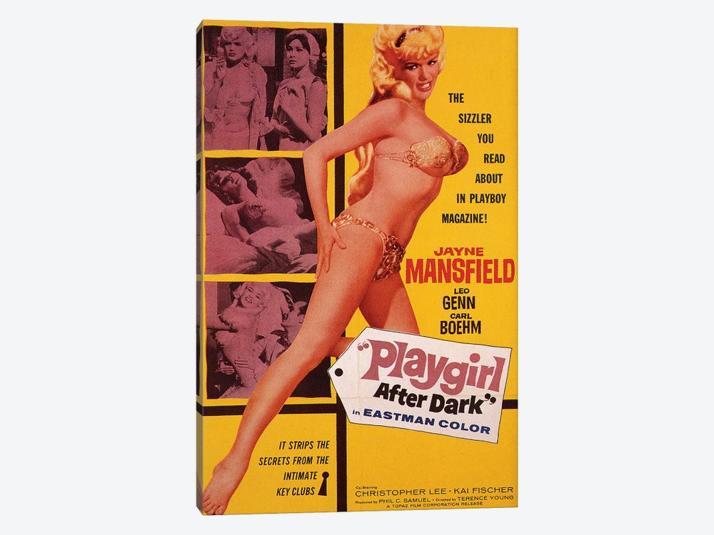 Playgirl After Dark (Too Hot To Handle) Film Poster 1-piece Canvas Art Print