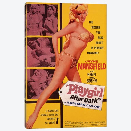 Playgirl After Dark (Too Hot To Handle) Film Poster Canvas Print #RAD76} by Radio Days Canvas Art