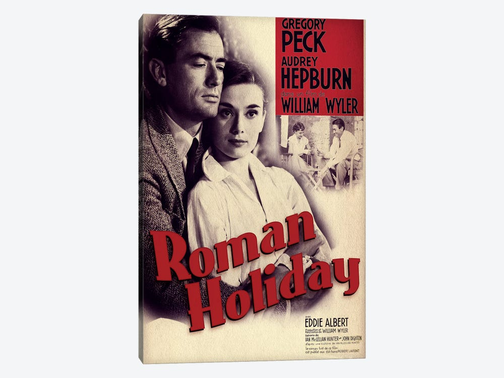 Roman Holiday Film Poster (French Market) by Radio Days 1-piece Canvas Print