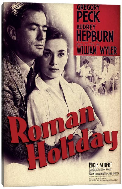 Roman Holiday Film Poster (French Market) Canvas Art Print