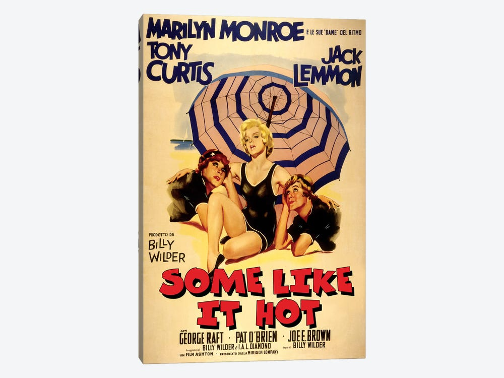 Some Like It Hot Film Poster (Italian Market) by Radio Days 1-piece Canvas Art