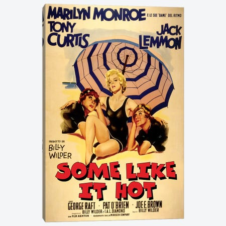 Some Like It Hot Film Poster (Italian Market) Canvas Print #RAD79} by Radio Days Art Print