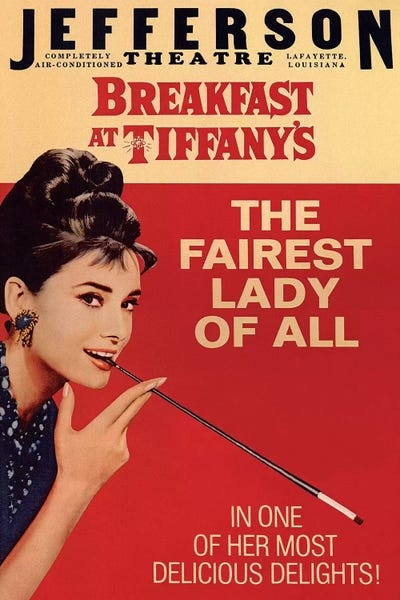 ab71cc05bc7e Breakfast At Tiffany s Film Poster (Jefferson The...