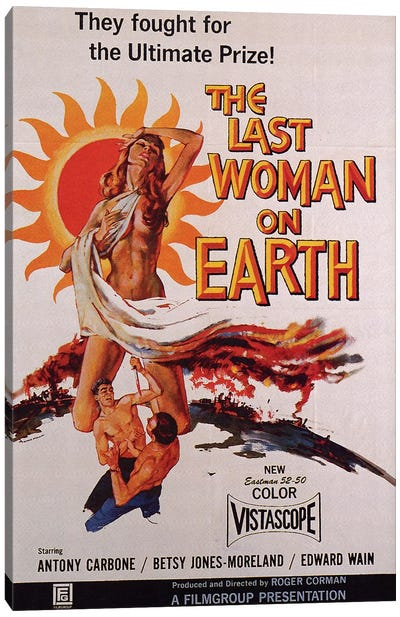 The Last Woman On Earth Film Poster Canvas Art Print