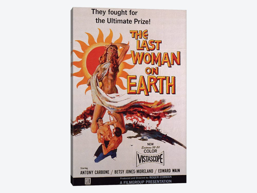 The Last Woman On Earth Film Poster by Radio Days 1-piece Canvas Art