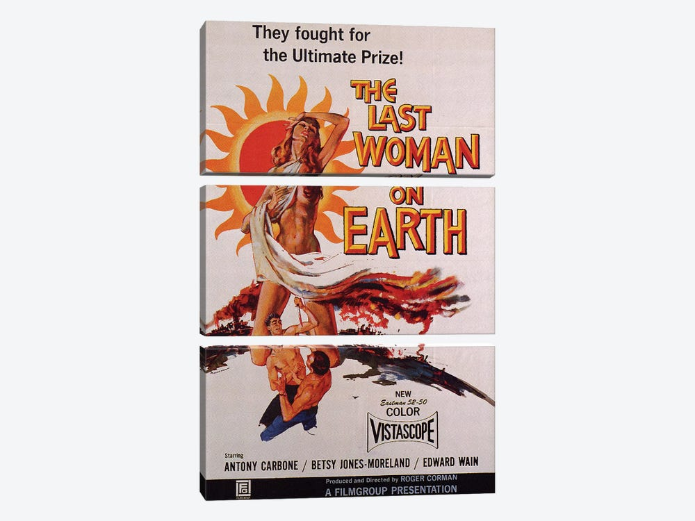 The Last Woman On Earth Film Poster by Radio Days 3-piece Canvas Wall Art