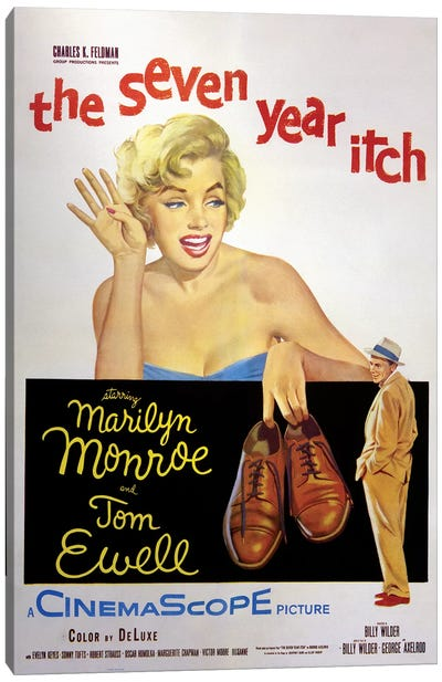The Seven Year Itch Film Poster Canvas Art Print