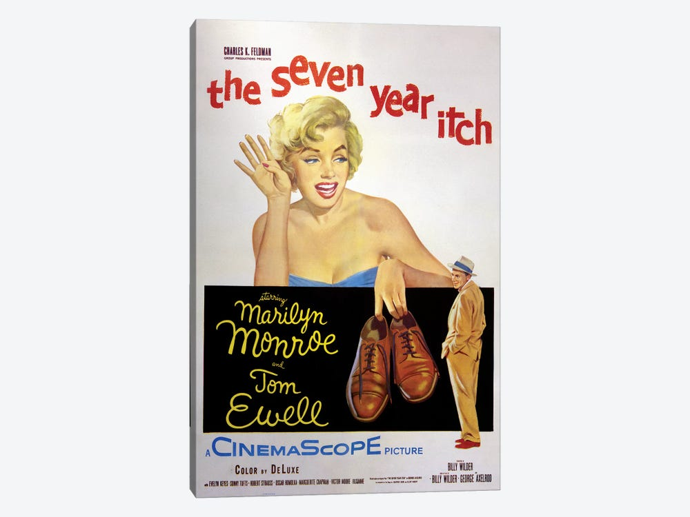 The Seven Year Itch Film Poster by Radio Days 1-piece Canvas Print
