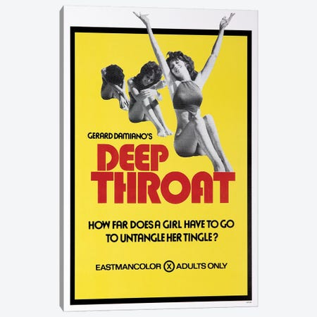 Deep Throat Film Poster Canvas Print #RAD85} by Radio Days Canvas Print