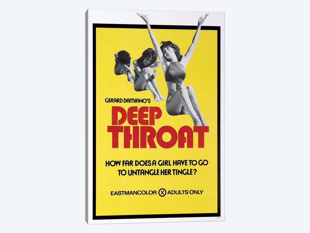 Deep Throat Film Poster by Radio Days 1-piece Canvas Print