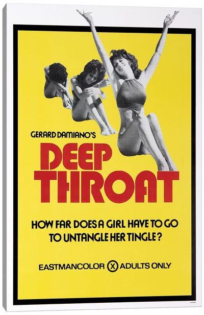 Deep Throat Film Poster Canvas Art Print