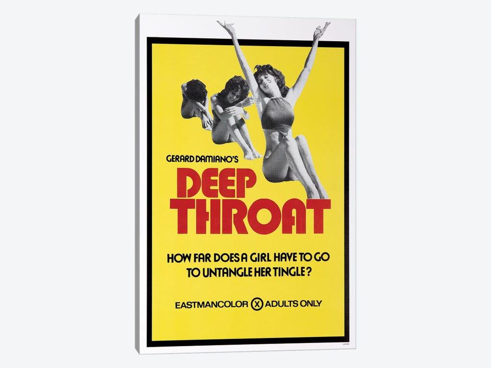 Deep Throat Film Poster by Radio Days 1-piece Canvas Print