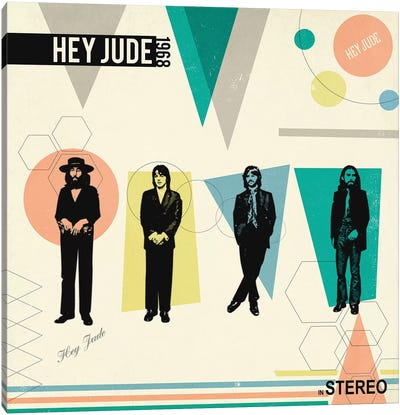 Hey Jude In Stereo, 1968 by Radio Days Canvas Art Print