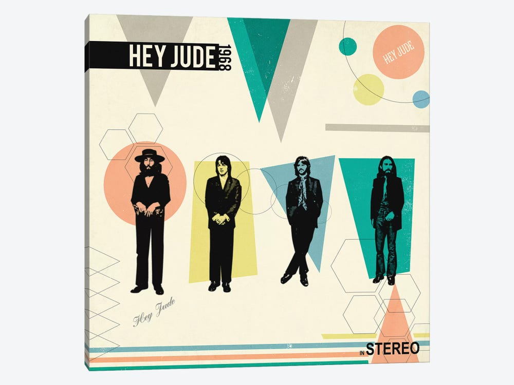 Hey Jude In Stereo, 1968 by Radio Days 1-piece Canvas Artwork