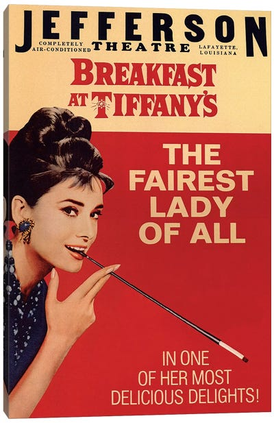 Breakfast At Tiffany's Film Poster (Jefferson Theatre Edition) Canvas Art Print