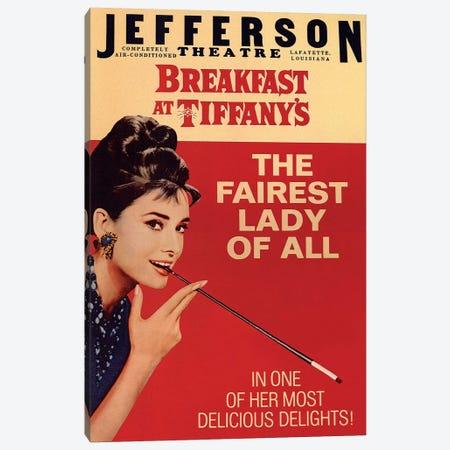 Breakfast At Tiffany's Film Poster (Jefferson Theatre Edition) Canvas Print #RAD8} by Radio Days Canvas Artwork