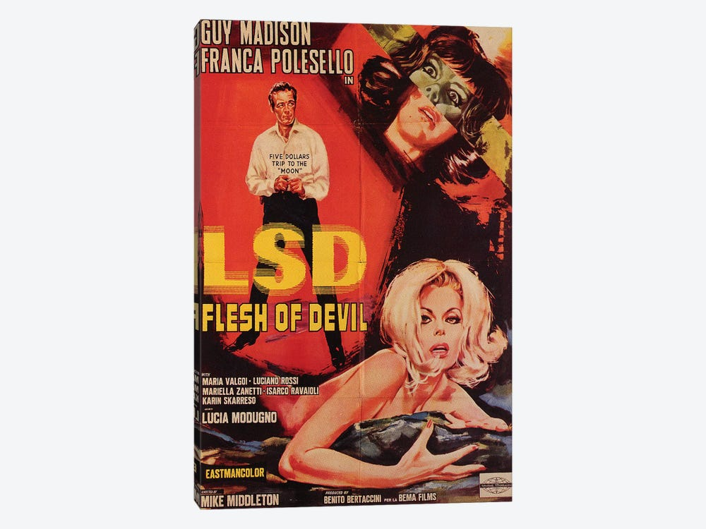 LSD Flesh Of Devil Film Poster by Radio Days 1-piece Art Print