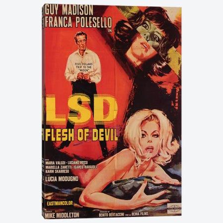 LSD Flesh Of Devil Film Poster Canvas Print #RAD90} by Radio Days Canvas Print