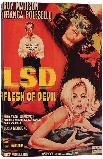 LSD Flesh Of Devil Film Poster Canvas Art Print