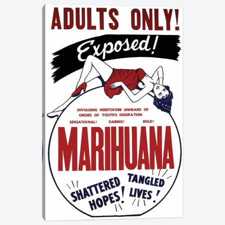 Marihuana Film Poster I Canvas Print #RAD91} by Radio Days Canvas Art Print