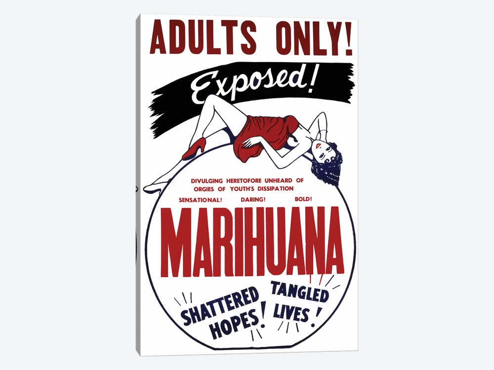 Marihuana Film Poster I by Radio Days 1-piece Canvas Wall Art