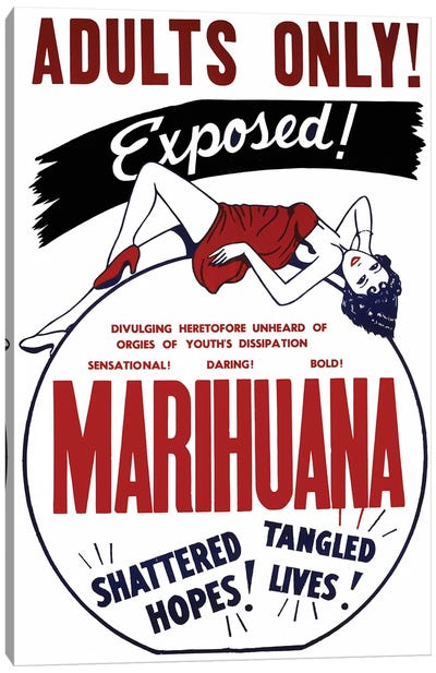 Marihuana Film Poster I Canvas Art Print