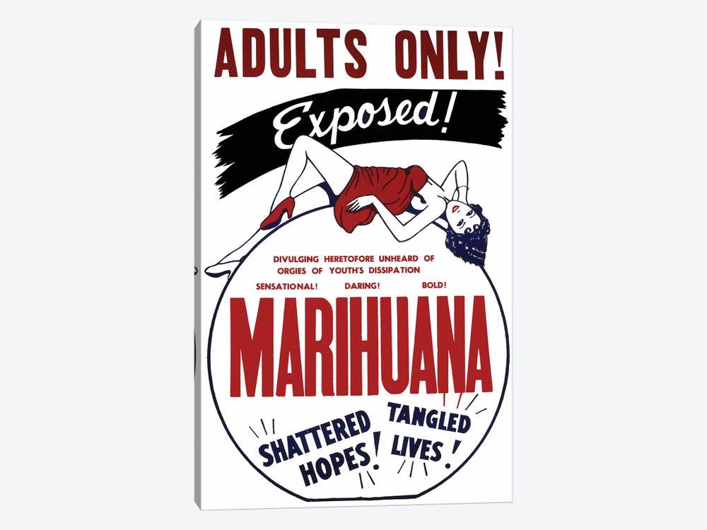 Marihuana Film Poster I by Radio Days 1-piece Canvas Wall Art