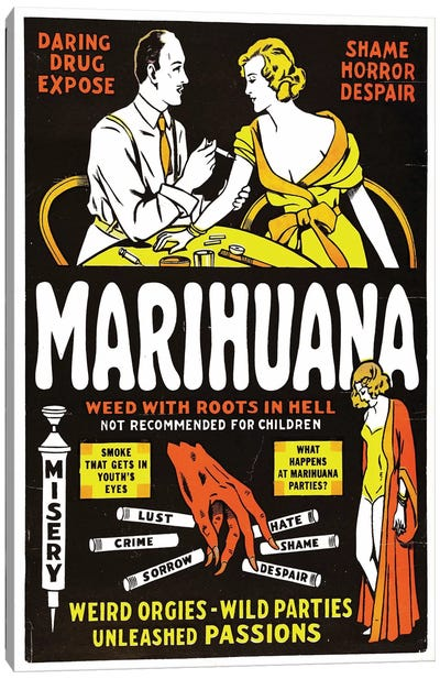 Marihuana Film Poster II Canvas Art Print