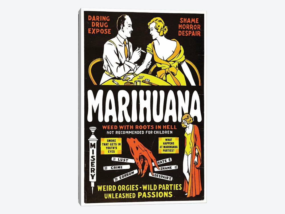 Marihuana Film Poster II by Radio Days 1-piece Canvas Print