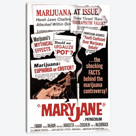 Maryjane Film Poster Canvas Print #RAD93} by Radio Days Canvas Art Print