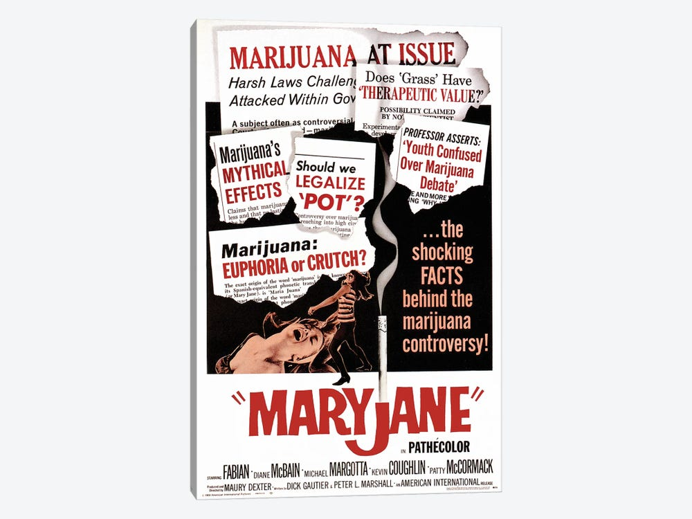 Maryjane Film Poster by Radio Days 1-piece Canvas Artwork