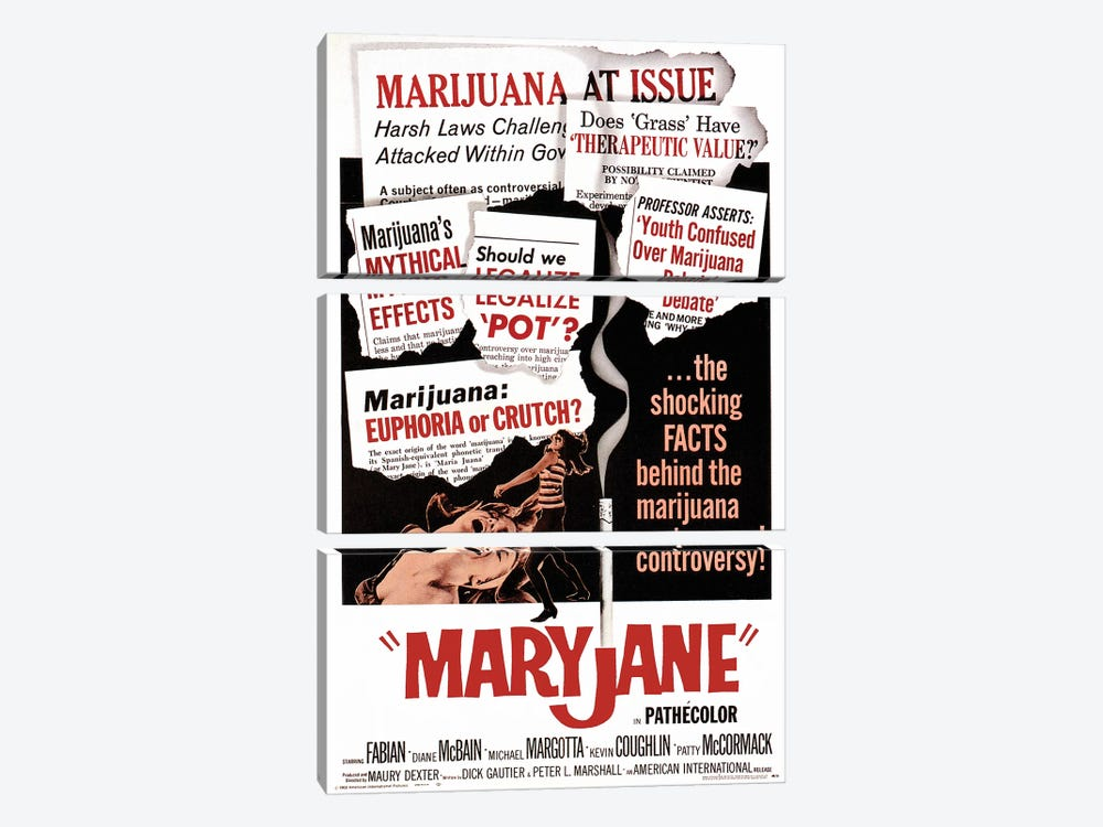 Maryjane Film Poster 3-piece Canvas Art