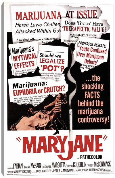 Maryjane Film Poster Canvas Art Print
