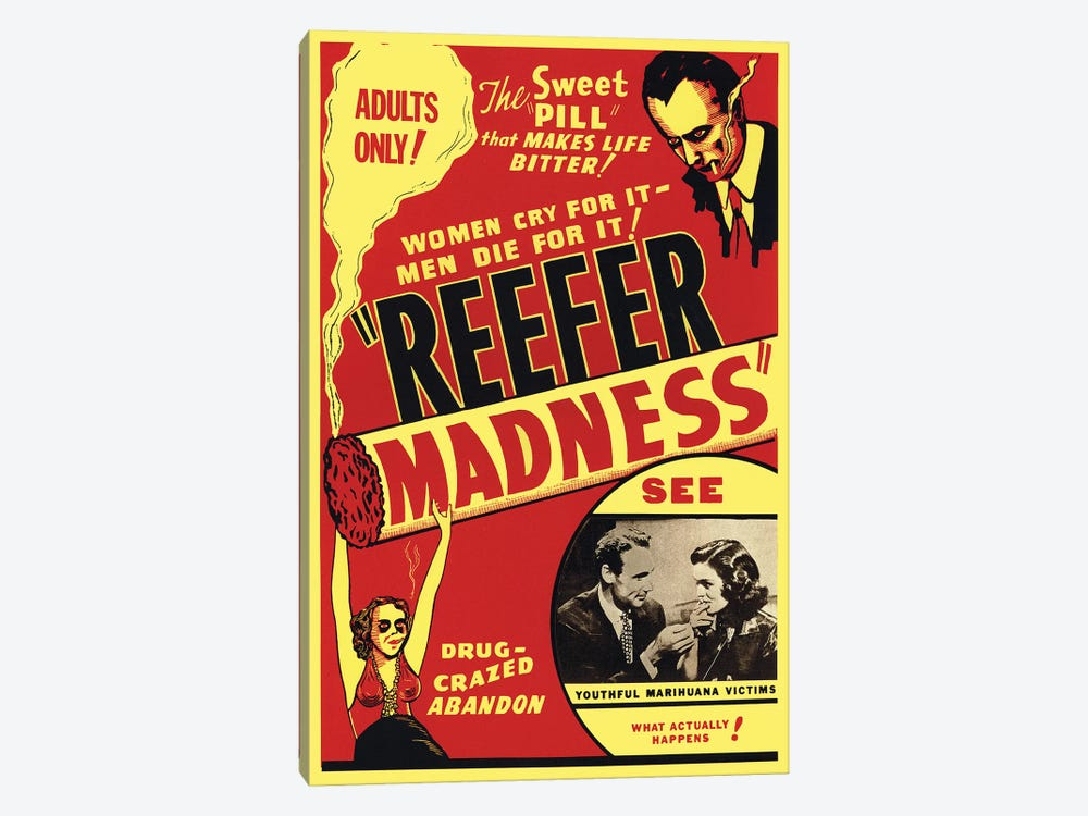 Reefer Madness Film Poster by Radio Days 1-piece Canvas Art Print