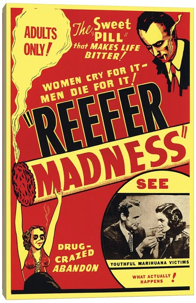 Reefer Madness Film Poster Canvas Art Print