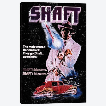 Shaft Promotional Poster Canvas Print #RAD95} by Radio Days Canvas Wall Art