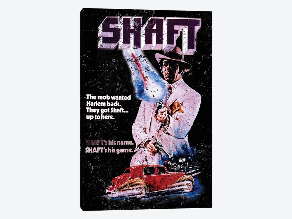 Shaft Promotional Poster by Radio Days 1-piece Canvas Artwork