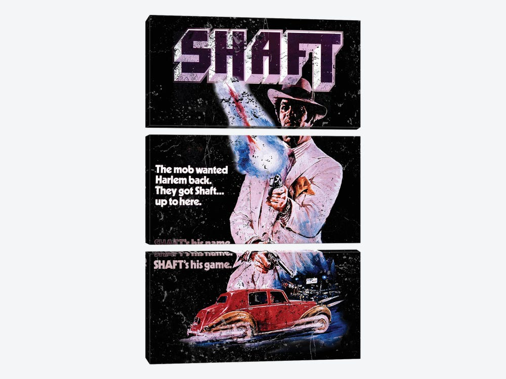 Shaft Promotional Poster by Radio Days 3-piece Canvas Artwork