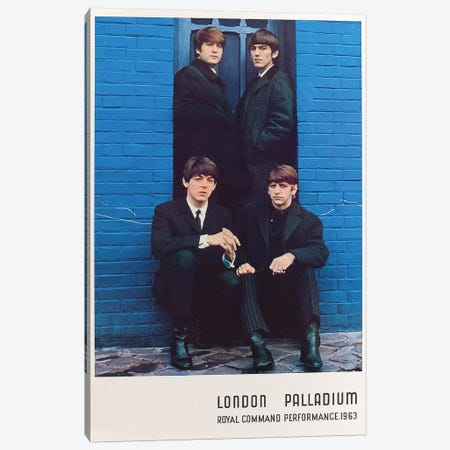The Beatles 1963 Royal Command Performance Promotional Poster Canvas Print #RAD96} by Radio Days Canvas Art