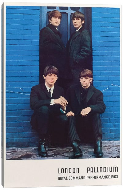 The Beatles 1963 Royal Command Performance Promotional Poster by Radio Days Canvas Art Print