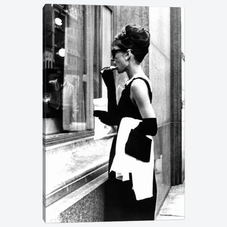 Audrey Hepburn Window Shopping II Canvas Print #RAD9} by Radio Days Canvas Wall Art