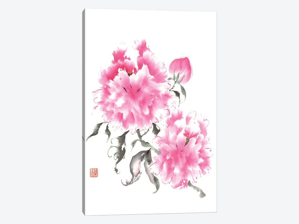 Peony Blossoms I by Nan Rae 1-piece Canvas Art