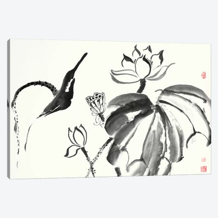 Lotus Study I 3-Piece Canvas #RAE3} by Nan Rae Canvas Art Print