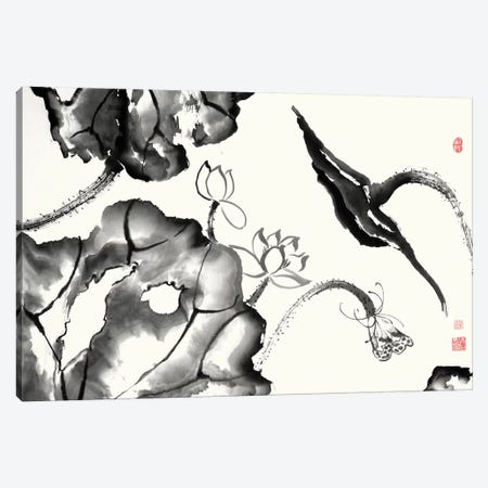 Lotus Study II 3-Piece Canvas #RAE4} by Nan Rae Canvas Artwork