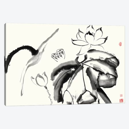 Lotus Study III Canvas Print #RAE5} by Nan Rae Canvas Artwork