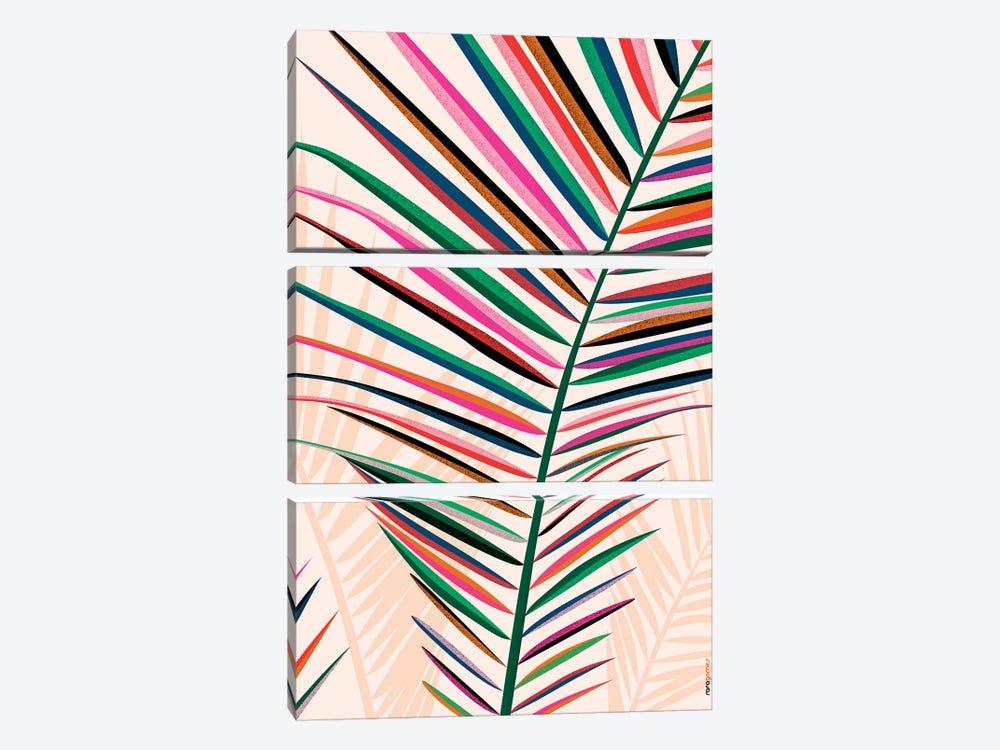 Floral Brazil IV by Rafael Gomes 3-piece Canvas Art Print